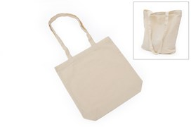 SET 4 UNBLEACHED COTTON BAGS 32X36CM