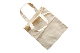 SET 4 UNBLEACHED COTTON BAGS 20X24CM
