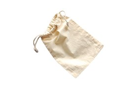 SET 12 UNBLEACHED COTTON BAGS 16X17CM