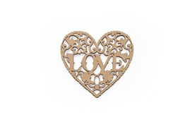 SET 6 LACED HEARTS 12X11X0.3CM  MDF