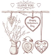 SET 5 PAPERS 21X29.7CM LOVE F/CALCOTRANSFER