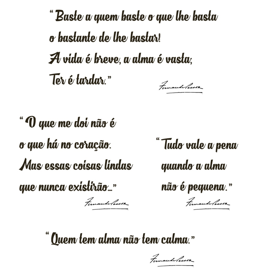 SET 5 PAPERS 21X29.7CM POEMS F.PESSOA F/CALCOTRANSFER