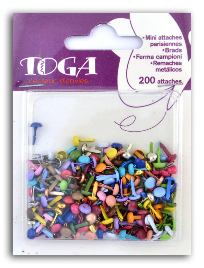 ASSORTMENT DE 200 MINI ATTACHES PARISIENNES AE06