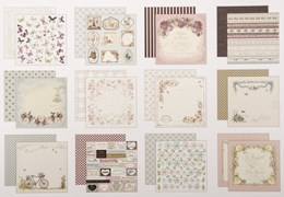SET 24 SHEETS 20X20CM SCRAPBOOKING SCP-1006