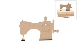 SET 6 SEWING MACHINES 24X15X0.5CM MDF