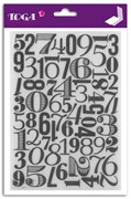 PLACA EMBOSSING 14X20 NUMEROS CUT IT ALL DCE015 TOGA