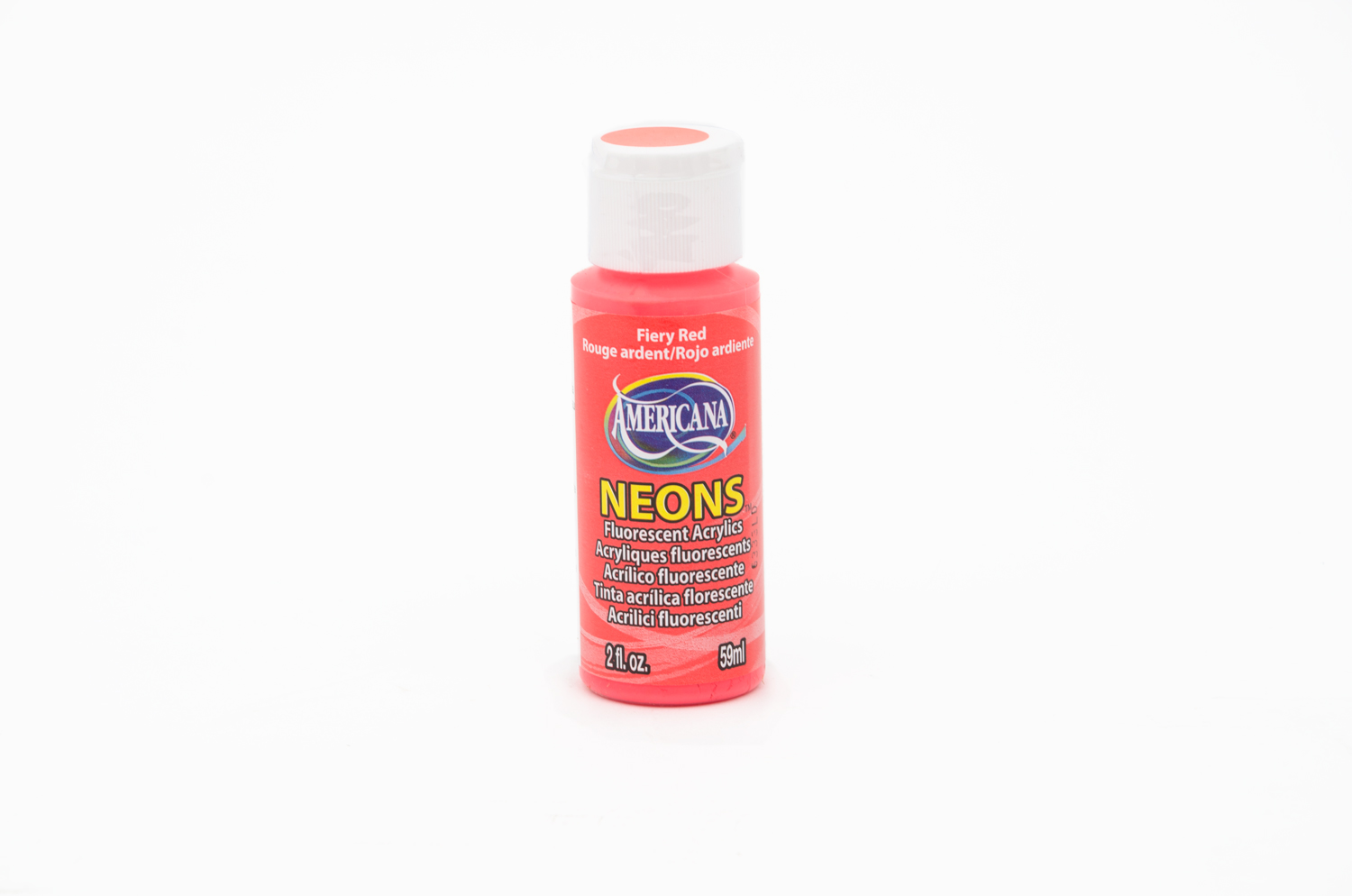 ACRYLIC PAINT 59ML NEON DHS4 RED