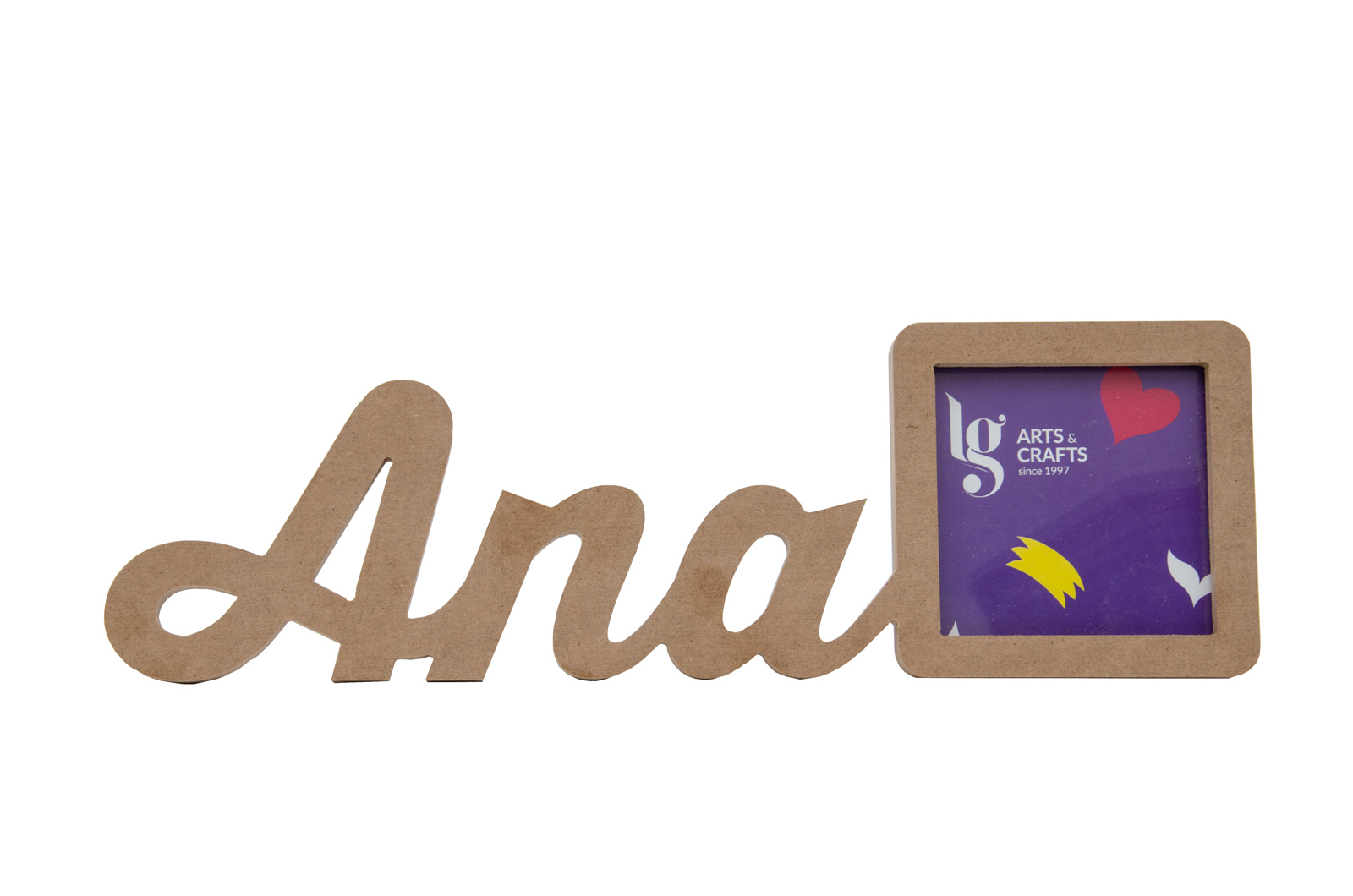 FRAME W/ CUSTOMIZE NAME UNTIL 5 LETTERS 12X1.2CM MDF