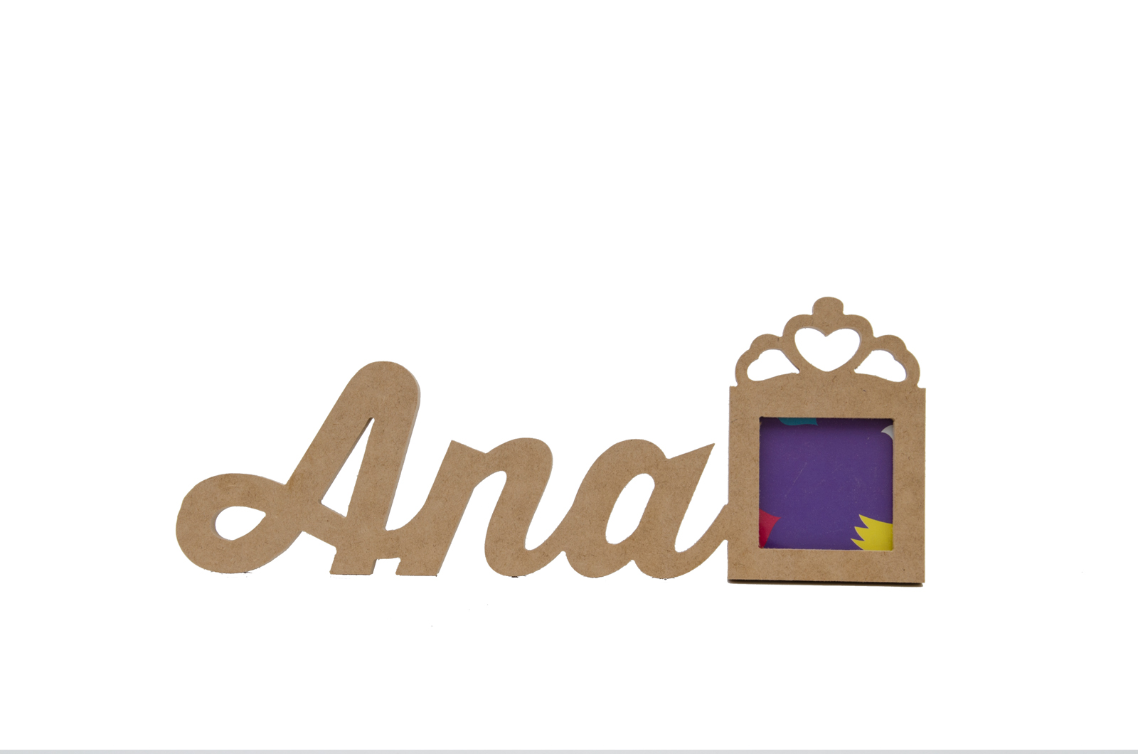 FRAME  W/CUSTOMIZE NAME UNTIL 5 LETTERS 13X1.2CM MDF