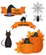 SET 5 PAPEIS 21X29.7CM HALLOWEEN P/CALCOTRANSFER