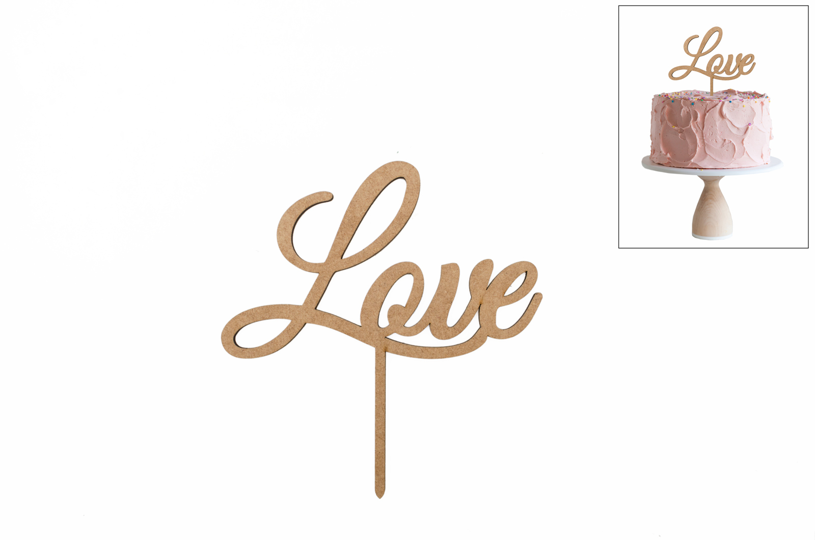 SET 4 ESPETOS LOVE 15X15.8X0.3CM MDF