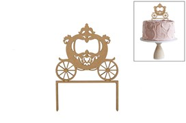 SET 4 CAKE TOP CARRIAGE 15X21.2X0.3CM MDF