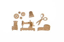 SET 9 SEWING ACCESSORIES 0.3CM MDF