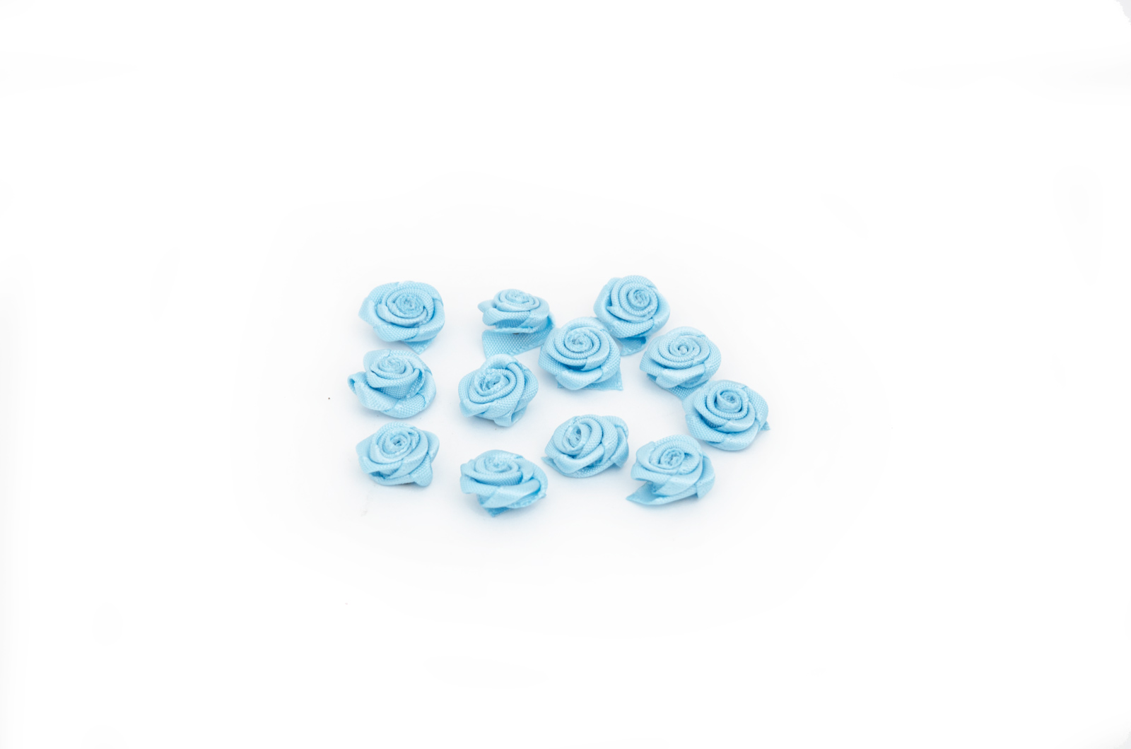 SET 12 FLOWERS 2.8CM BLUE 1484001