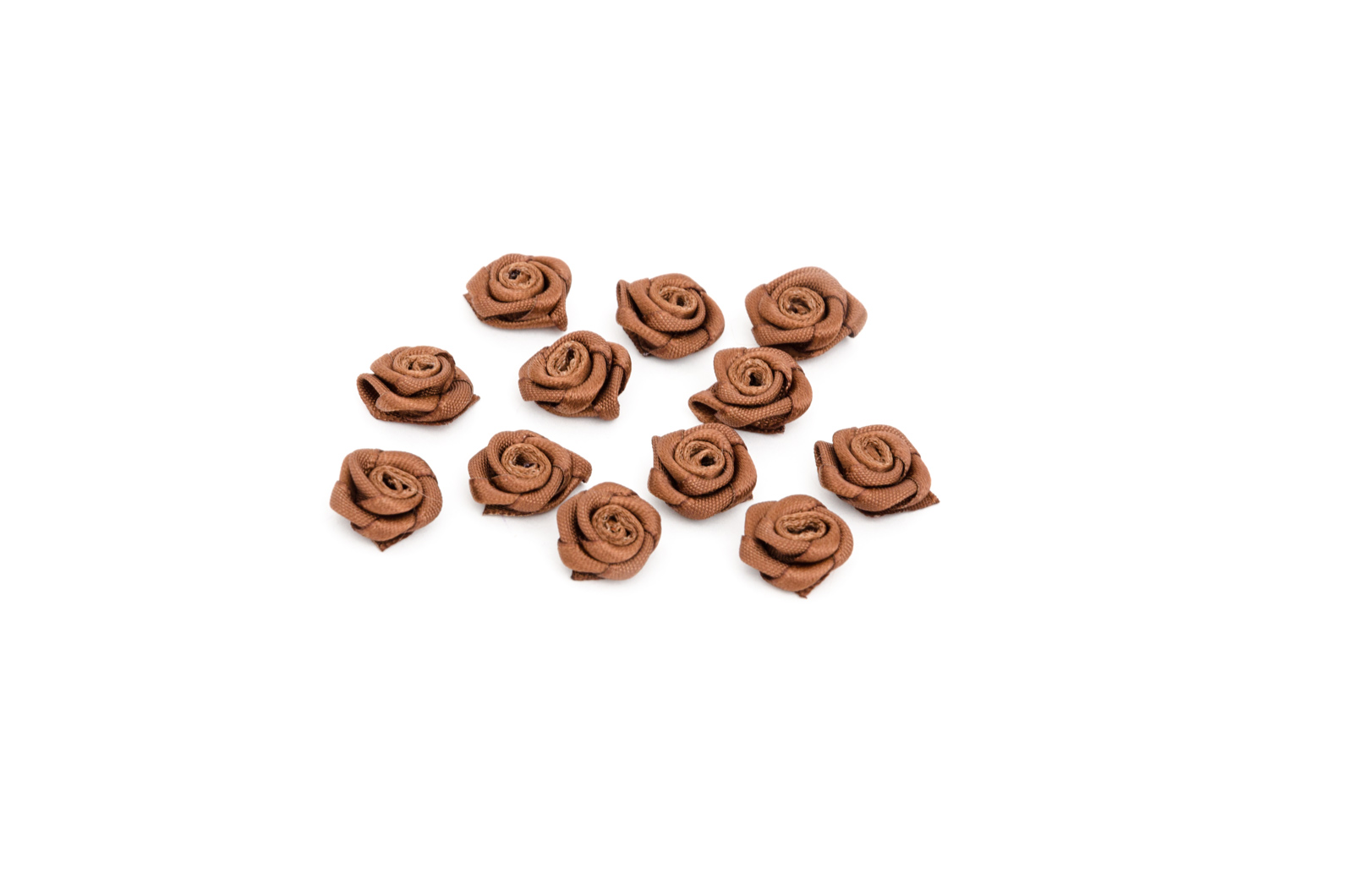 SET 12 FLOWERS 2.8CM BROWN 1484006