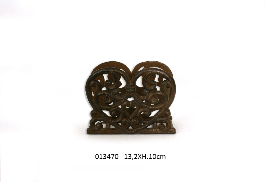 SUP. FOR SPONGE HEART 13.2X5.4X10CM RUSTY