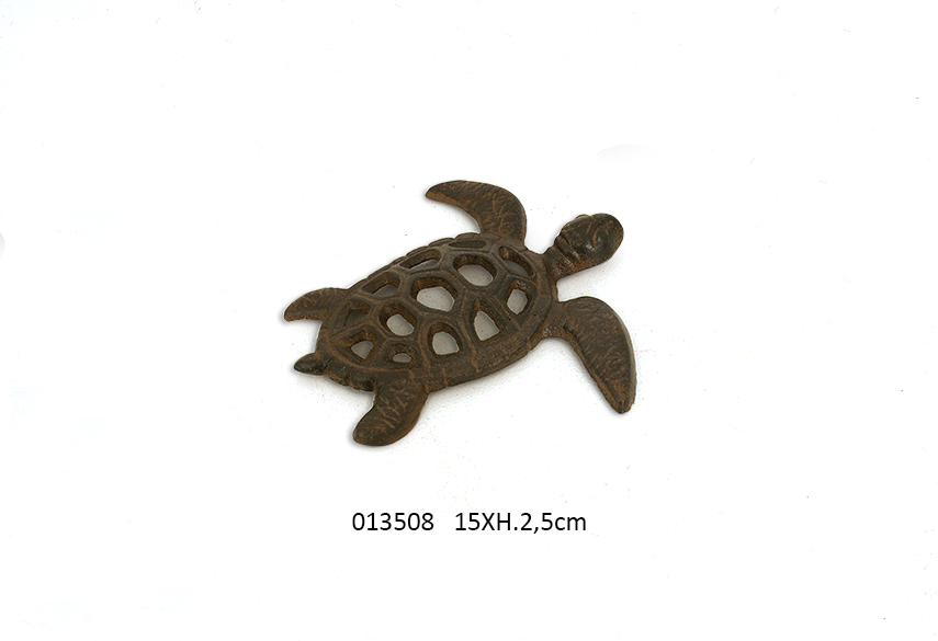 TURTLE DECORATIVE 15X15X2.5CM RUSTY