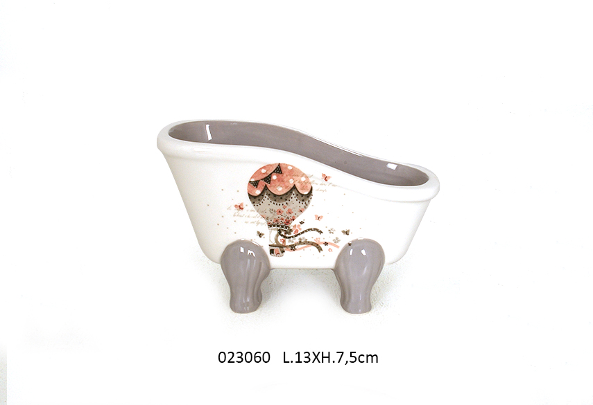 SOAP DISH BATHTUB 13X7.5CM LOLY