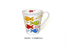 MUG D.8.5 X 10CM 325ML AQUARIUS