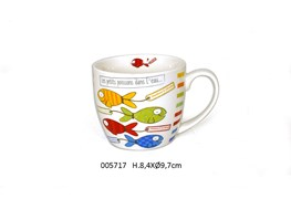 CANECA D.9.7 X 8.4CM 380ML AQUARIUS