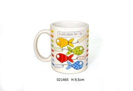 MUG 9.5CM 320ML AQUARIUS