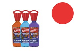 FABRIC PAINT 35ML ACRIPUFF LIVE RED 04812541 ACRILEX