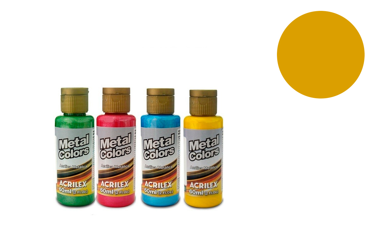 METAL COLORS 60ML DOURADO SOLAR 03660598 ACRILEX