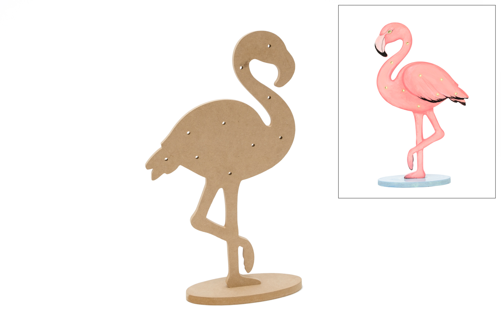 FLAMINGO C/LED C/BASE