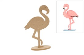 FLAMINGO C/LED 23.7X41.2X1.2CM MDF C/BASE