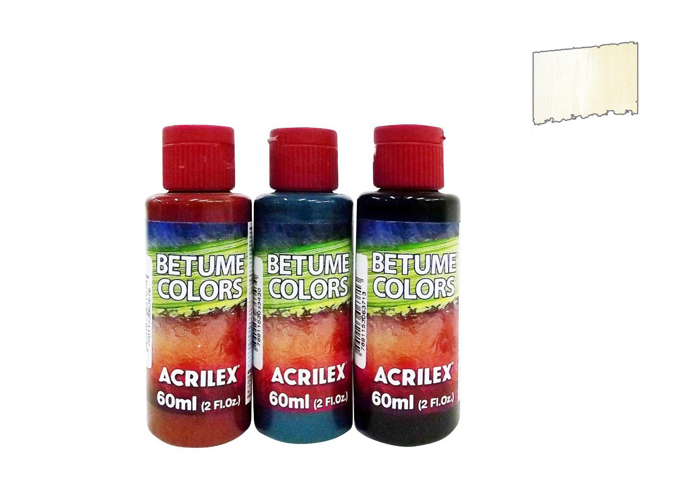 BITUMEN COLORS 60ML WHITE 21660519 ACRILEX