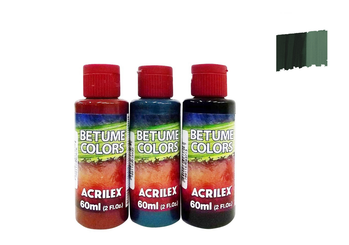 BETUME COLORS 60ML VERDE OLIVA 21660545 ACRILEX
