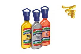 DIMENSIONAL RELEVO 3D COLOR METALLIC 35ML AMARELO 12312553