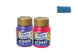 FABRIC PAINT 37ML METALICA SEA BLUE 04340535 ACRILEX