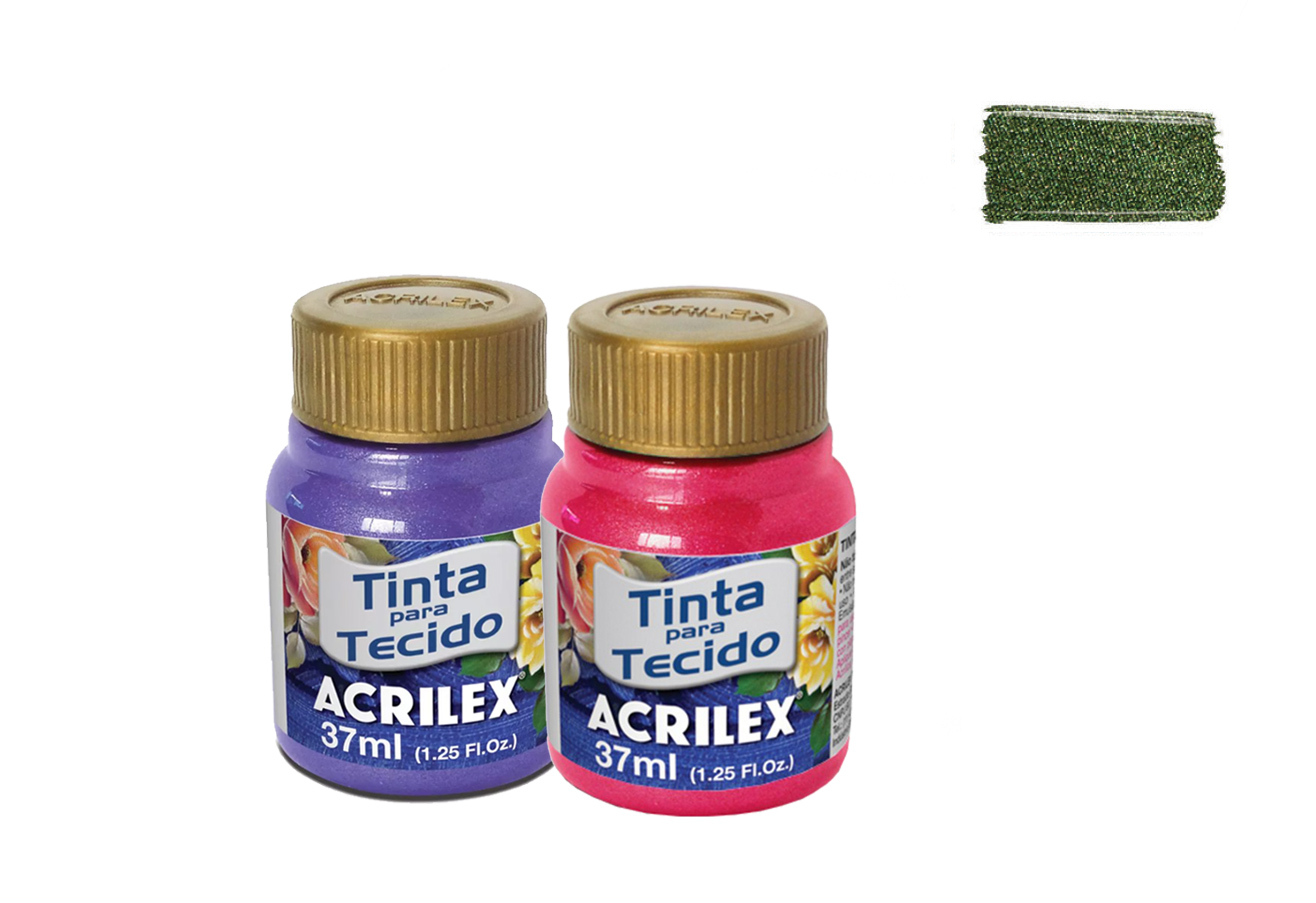 FABRIC PAINT 37ML METALICA OLIVE GREEN 04340545 ACRILEX