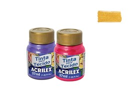 FABRIC PAINT 37ML METALICA YELLOW 04340553 ACRILEX