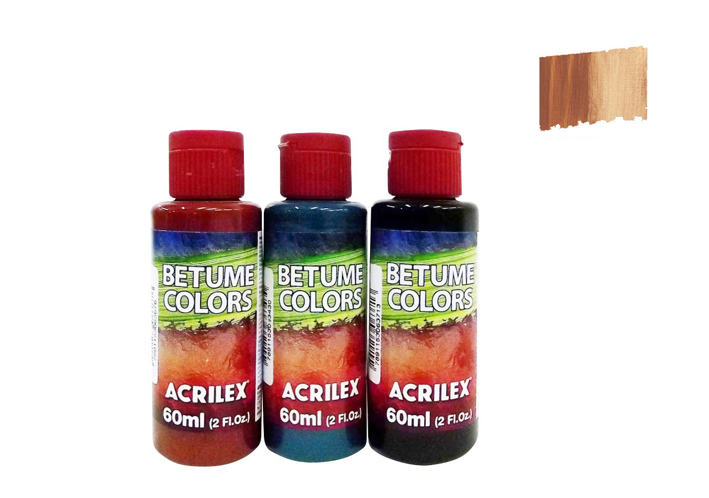 BETUME COLORS 60ML CASTANHO CLARO 21660815 ACRILEX