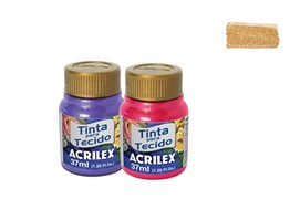FABRIC PAINT 37ML METALICA GOLD 04340532 ACRILEX