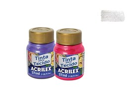 FABRIC PAINT 37ML METALICA WHITE 04340562 ACRILEX