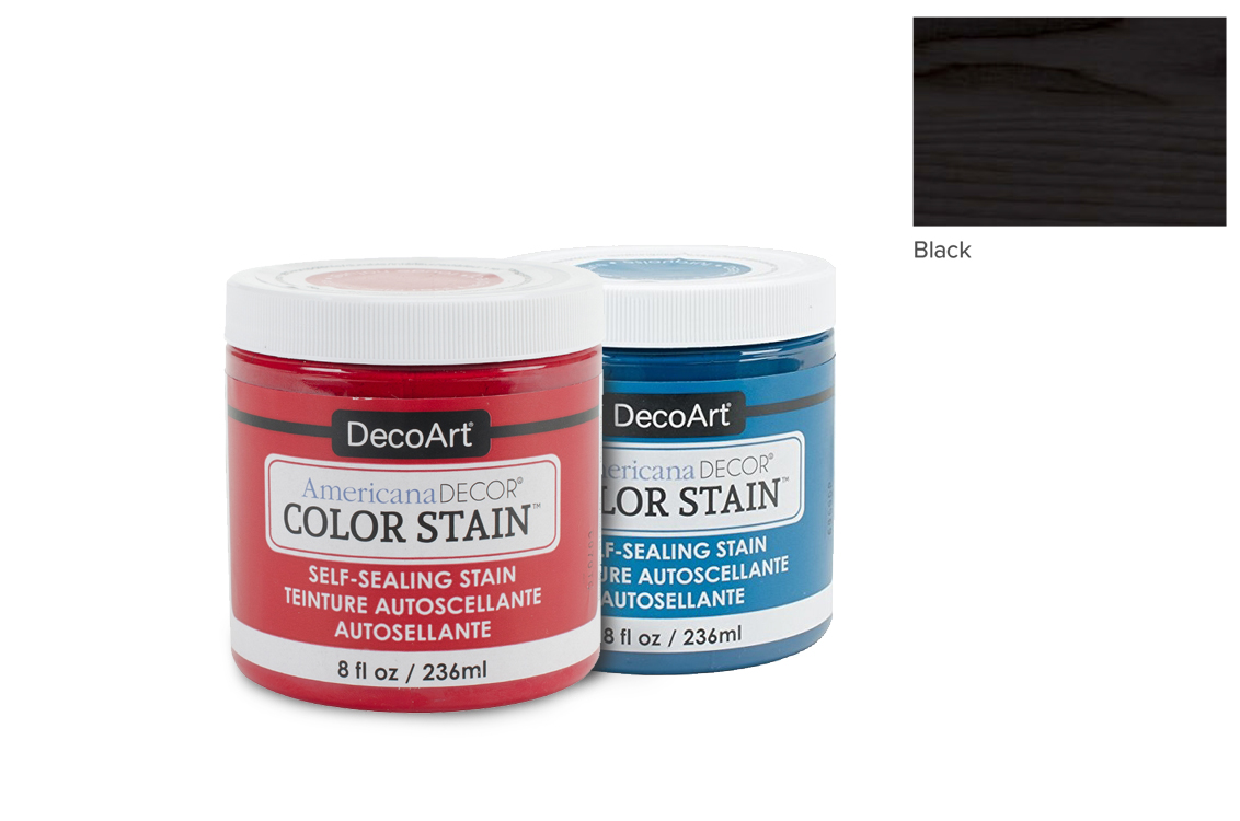 PAINT 236ML COLOR STAIN ADCS01 BLACK AMERICANA