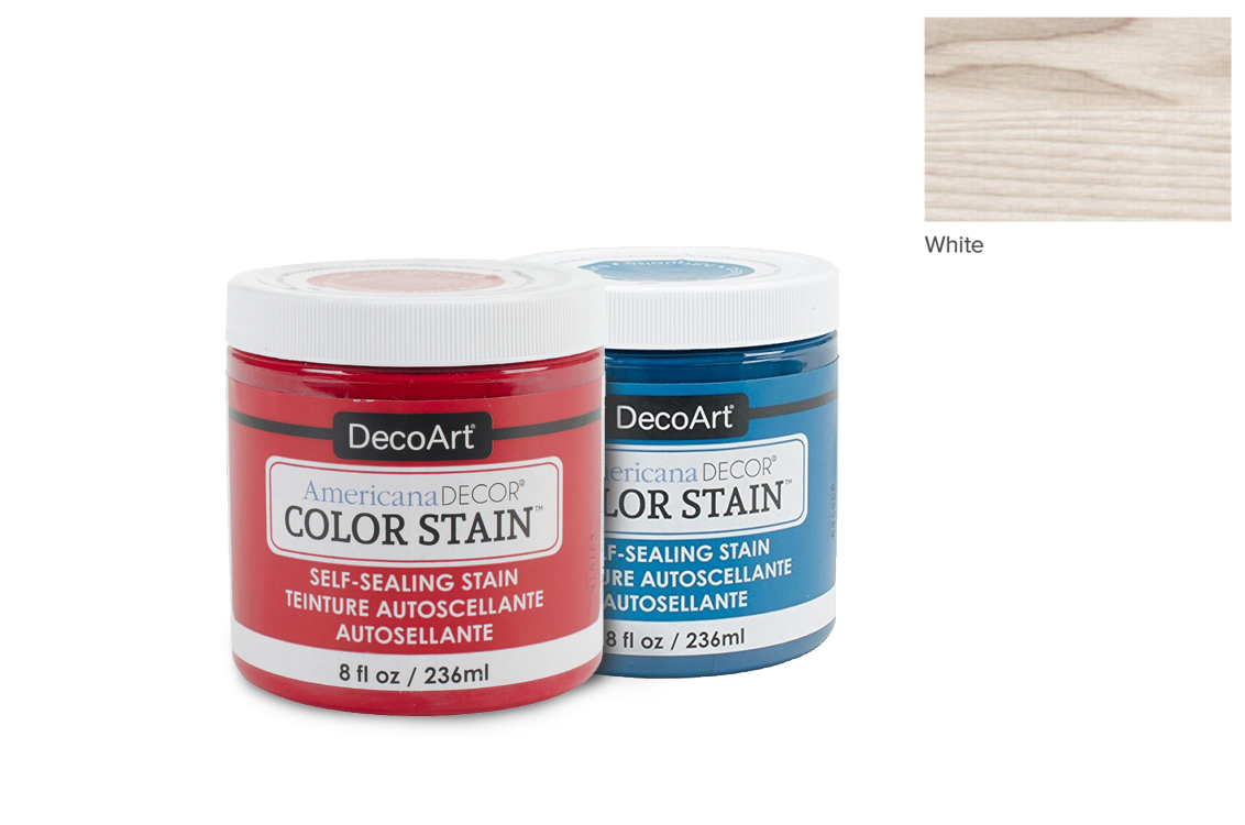 PAINT 236ML COLOR STAIN ADCS02 WHITE AMERICANA