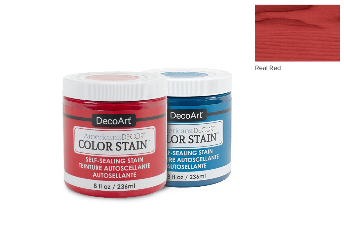 PAINT 236ML COLOR STAIN ADCS05 REAL RED AMERICANA