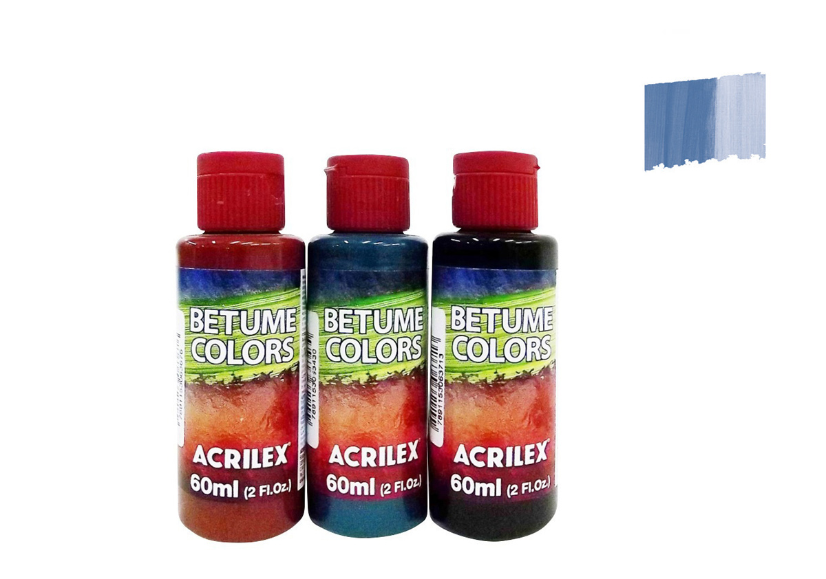 BETUME COLORS 60ML AZUL CARIBE 21660560 ACRILEX