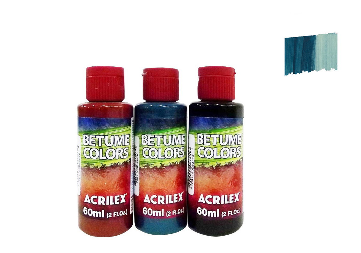 BETUME COLORS 60ML AZUL PETROLEO 21660596 ACRILEX