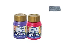 FABRIC PAINT 37ML METALICA PRETO 04340520 ACRILEX