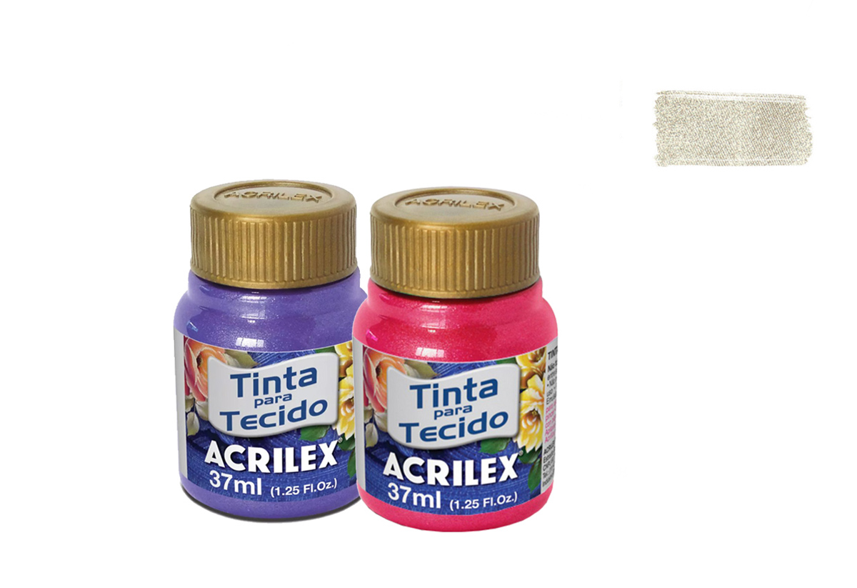 FABRIC PAINT 37ML METALICA IVORY 04340529 ACRILEX