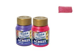 TINTA TECIDO 37ML METALICA RED 04340555 ACRILEX
