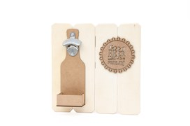 KIT SLATTED BOARD BOTTLE OPENER  30X30X1.7CM