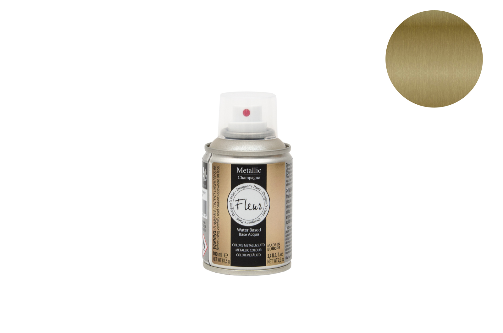 FLEUR SPRAY 100ML METALICO F91 CHAMPAGNE