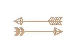 SET 4 ARROWS 30X6.4X0.3CM MDF