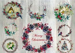 PAPEL ARROZ 35X50CM SHABBY CHRISTMAS 2390-9455